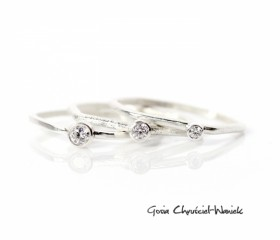 """Stackabe rings """"Geometric Trio"""""""