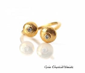 """Pierścionek """"Pebbles Gold"""""""