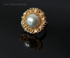 Pierścień ze złota pr.750