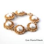 Złota bransoleta z brylantami