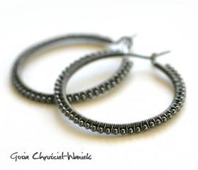 Hoops – srebrne kolczyki