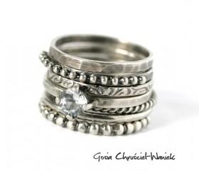 """Komplet pierścionków """"Seven"""""""