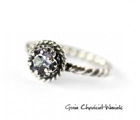 Alexandrite – srebrny pierścionek