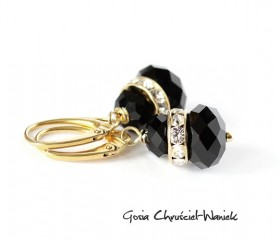 """Kryształy Swarovskiego """"Gold & Black"""""""