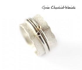 Brązowy diament, złoto & srebro