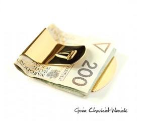 Złocony klips na banknoty