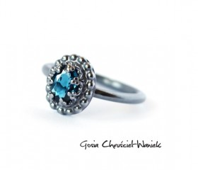 London Blue Topaz & Srebro