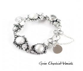 "Bransoleta ""White Pearls"""