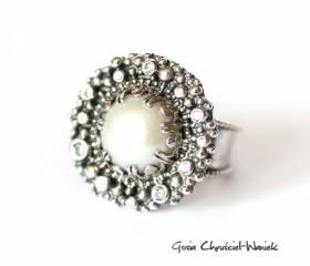"Pierścień""White Pearl"""