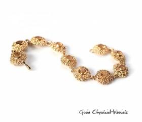 Złota bransoleta z cytrynami