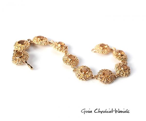 Złota bransoleta z cytrynamii