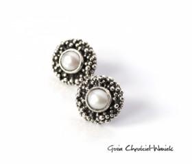 """Kolczyki """"Pearls"""" ze słodkowodnymi perłami"""