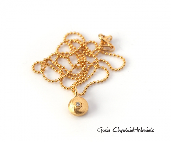 Naszyjnik złocony Pebbles