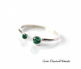 "Srebrny pierścionek ""Green"""