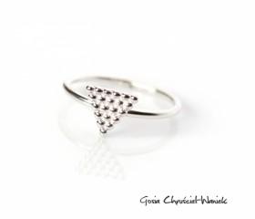 Pierścionek Triangles Mini
