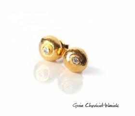 "Kolczyki ""Pebbles Gold"""