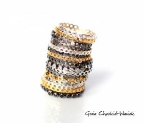 Ażurowy pierścionek Simple
