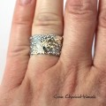 Srebrno-złoty pierścionek Gosi Chruściel-Waniek