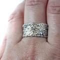 srebrno złoty pierścionek z kolekcji Symbiosis