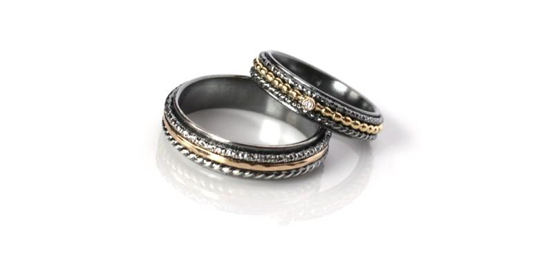 Obrączki ze srebra o złota