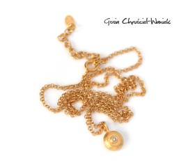 """Naszyjnik """"Pebbles"""" w złocie"""