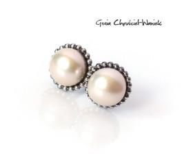 Słodkowodne perły w srebrze