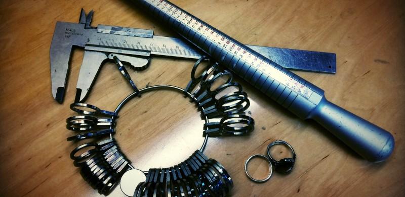 Narzędzia do mierzenia rozmiarów pierścionków