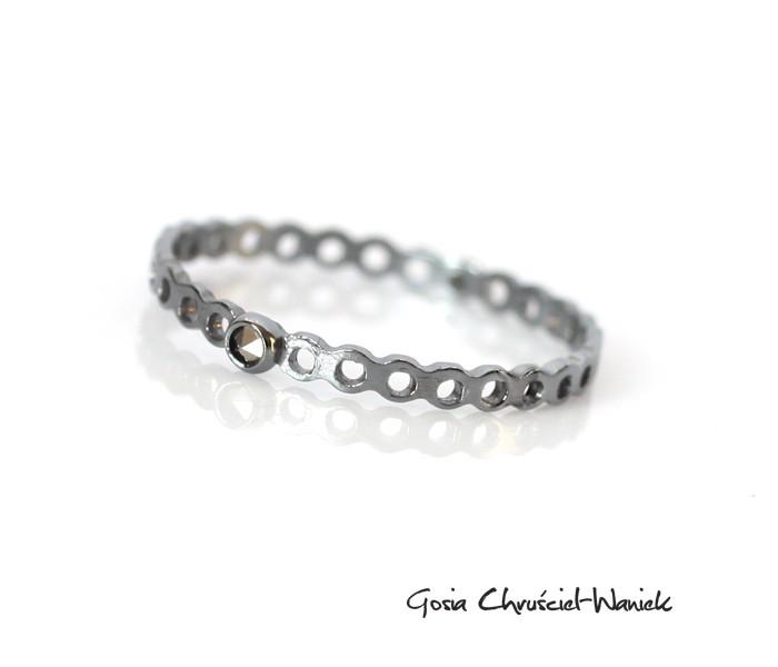 Srebrny pierścionek z markazytem