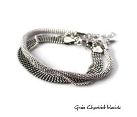 Zestaw srebrnych bransolet