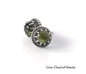 Zielone turmaliny w ażurach