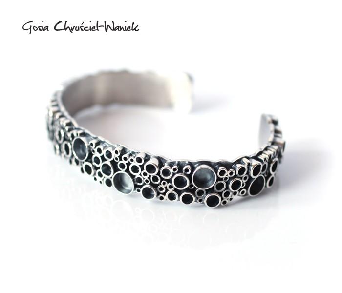 Okazała srebra bransoleta