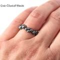 Srebrny pierścionek ze złotem