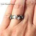 Organiczny pierścionek z perłami