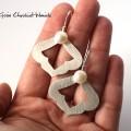 Ręcznie robione kolczyki z perłami