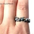 Organiczny pierścionek z perłą