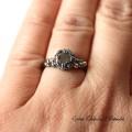 Pierścień z moissanitem