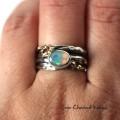 Opal w srebrze i złocie
