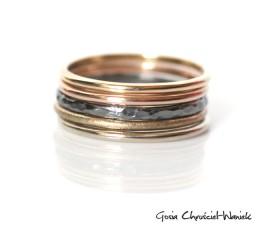 Obrączki z białego, zółtego, różowego złota i srebra