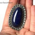 Okazały wisior z Lapisem Lazuli i markazytami