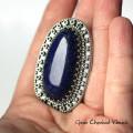 Lapis Lazuli zdobiony markazytami