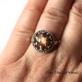 Piękny kamień słoneczny w srebrze