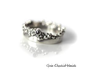 Organiczna obrączka z czarnym diamentem