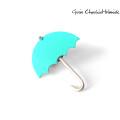 Turkusowa parasolka, pin