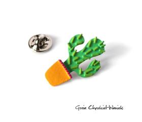 Kaktus – srebrny pin