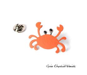Pomarańczowy pin krab
