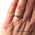Organiczny pierścionek z zielonym turmalinem