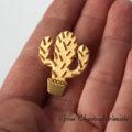 Srebro złocone - kaktus - broszka, przypinka, pin