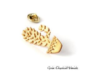 Złocony kaktus – przypinka, pin