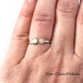 Autorski zaręczynowy pierścionek z brylantem