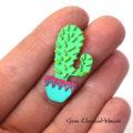 Przypinka kaktus